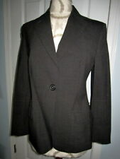 Piazza Sempione Womens Wool Blazer Pant Suit Black Red stripes Size 38/42 Italy