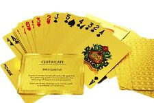 United Entertainment Golden Playing Cards | Gold Coating & Gold Foil Certificate