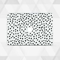 Polka Dot White For Macbook 12 Air 11 13 2018 Pro 13 15 Top Bottom Printed Cover