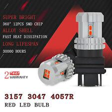 For Chevrolet RED 3157 4057 3057R LED Brake Tail Light Bulb 12-SMD car lamp D1
