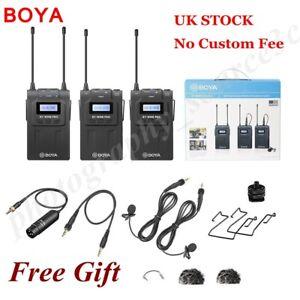 Boya BY-WM8 Pro-K2 Upgraded UHF Dual-channel Wireless Microphone System Kit 2.4G