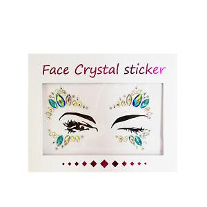 Glitter Festival Rave Party Jewel Eyes Gems Adhesive Body MakeUp Tattoo Sticker