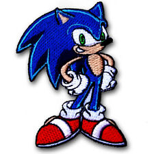 Sonic the Hedgehog Patch Iron on Kids Sew Cartoon Animation Motif SEGA Game