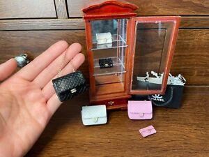 Miniature handmade handbag, miniature keychain wallet, miniature handbag,