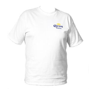 New CORONA EXTRA Beer T-Shirt Brewery Ale Promo White TShirt Tee Size Small