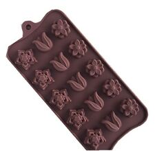 15-Tulip Flower Chocolate Silicon Cake Candy Baking Mould Ice Block Tool