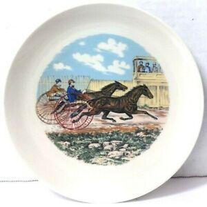 Vintage 1974 Souvenir Plate Harness Horse Racing Goldsmith Maid American Girl