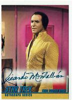 Star Trek The Original Series Season 1 Autograph A17 Ricardo Montalban as Khan