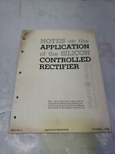 General Electric Scr Manual Silicon Controlled Rectifier Notes and application