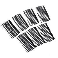 10x 14 Teeth Metal Hair Comb Clip Slide Hairpin DIY Jewelry Making 7.5x4cm