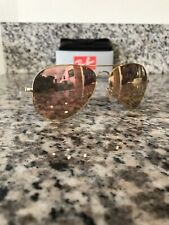 Ray-Ban RB3025 112/Z2 58 mm Gold Frame Copper Flash  (Pink)  Aviator