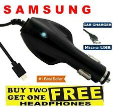 MICRO USB CAR MOBILE PHONE CHARGER FOR SAMSUNG GALAXY S6 S7 EDGE J5 J3 A3 2016 5