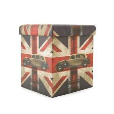 Smart Pouf box London Car Contenitore salvaspazio in simil pelle P079
