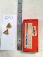 8 NEW SNAP-TAP 16 NR 16 UN THREADING CARBIDE INSERTS. GRADE: CP30 {K873}