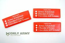3 x 50g Swiss Army Ration Chocolate Bars Emergency Outdoor Survival Food Rations