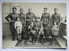 Alpino Alpini soldati bambini vecchia foto
