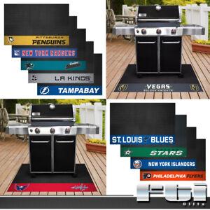 "NHL Teams Vinyl BBQ Home Deck Patio Outdoor Grill Floor Mat Universal 26"" x 42"""
