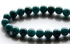 50pcs 8mm Round Gemstone Beads - Malaysian Jade - Dark Turquoise