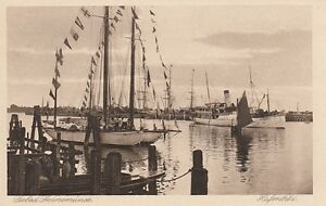 Carte Postale Poméranie Seebad Swinemuende Hafenbild Navires