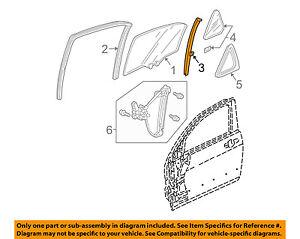 Acura HONDA OEM 2004 TSX Glass-Rear Door-Sash Channel Left 72771SEA003