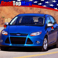 For 2012 2013 2014 2015 2016 Ford FOCUS 2 Chome Top Mirror Covers WITHOUT Signal