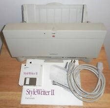Apple StyleWriter II Vintage Printer with Power Cord, Manual, Installation Disks
