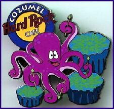 Hard Rock Cafe Cozumel 2001? Lila Octopus Pin Playing Drums Katalog #12305