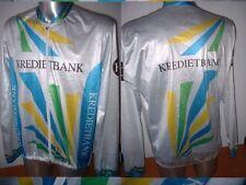 Kredietbank l / s maglia Jersey Top adulto XL BICICLETTA CICLO BICICLETTA VINTAGE sportlijn
