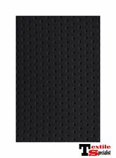 """BLACK PERFORATED MARINE OUTDOOR AUTO FABRIC BOAT UPHOLSTERY 54""""W VINYL BY THE YD"""