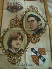 Princess Diana: PRINCE CHARLES TEA TOWEL ROYAL WEDDING  IRISH LINEN IRELAND 1981