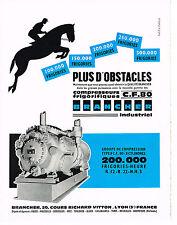 PUBLICITE ADVERTISING   1965   BRANCHER   compressuers frigorifiques CF 80