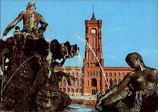 BERLIN Ost DDR Ansichtskarte Gebäude Rathaus Bauwerk Town Hall Neptun-Brunnen