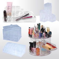 CLEAR COSMETIC MAKEUP ARTIST BEAUTY STORAGE ORGANISER 4 GLAM DESIGN CADDY