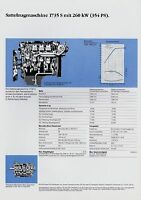 Mercedes 1735 S Sattelzugmaschine Datenblatt Technische Daten 1988 Prospekt Lkw