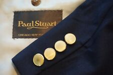 Paul Stuart STUART Navy Blue Brass Button Wool Sport Coat Blazer Sz 43L