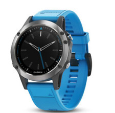 Garmin quatix 5 with blue silicone QuickFit watch band