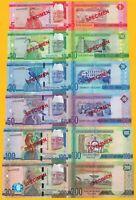 Gambia SPECIMEN Set 2015 UNC Banknotes