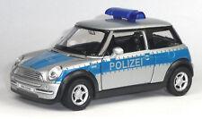 NEU: Modellauto MINI Cooper Polizei Einsatzfahrzeug ca. 1:38 Neuware von WELLY