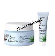 Oriflame Love Nature Refreshing Eye Gel & Face Cream Aloe Vera & Coconut Water