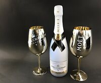 Moet Chandon Ice Imperial Champagner 0,75l 12% Vol + 2 Imperial Gold Glas Gläser