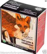 NEW LIGHT MOUNTAIN ORGANIC NATURAL HAIR COLOR & CONDITIONER RED AMMONIA FREE