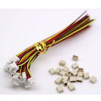 20sets Mini Micro SH 1.0 JST 3-Pin Stecker Stecker mit 100MM Kabel & weiblich