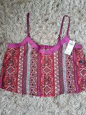 New Hollister Women Gilly Hicks Patterned Sleep Cami Size L  PINK PATTERN