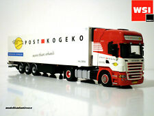 "SCANIA TRUCK WITH REEFER TRAILER ""POST KOGEKO""-WSI MODELS-9467,1:50 scale"