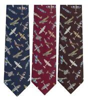 Spitfire Plane Navy, Red or Black Polyester Tie Mens Neck Tie RAF Gift