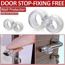 EASY FIX RUBBER PRACTICAL DOOR STOP STOPPER WALL PROTECTOR HANDLE BUMPER GUARD