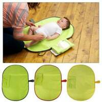 Baby Portable Foldable Waterproof Travel Nappy Diaper Changing  Pad Clutch Mat Z