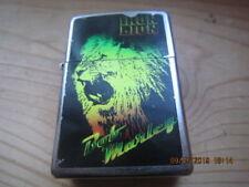 BOB MARLEY IRON LION ZIPPO LIGHTER USED