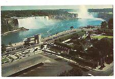 NIAGARA FALLS from Sheraton Brock Hotel Oaks Gardens  Canada Postcard 1958