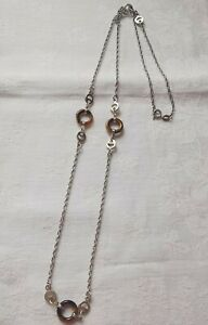 Sterling Silver Beautiful Long Tiger's Eye Necklace